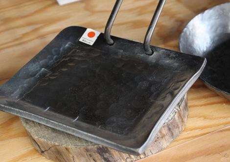 みきかじや村 鍛造ソロ鉄板正方形/鍛造フライパン