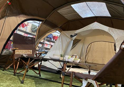 コールマン展示テントを張り替えました!